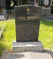 Grabstätte von Isolde Ahlgrimm (Quelle: Wikimedia)