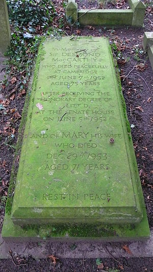 Mary MacCarthy - Grave of Desmond and Mary MacCarthy
