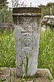 Grave stele of Apollonius (?) at the Ancient Agora of Athens on March 23, 2021.jpg