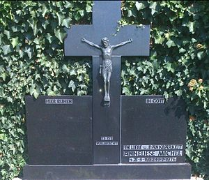 Anneliese Michel - Michel's gravestone. Her grave became a place of pilgrimage.