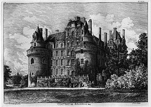 Château de Brissac - Château de Brissac, by Octave de Rochebrune (1888)