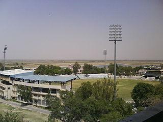 Green Park Stadium building in India
