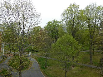 Campus of Bates College - The campus of Bates College includes a 133-acre main area, in Lewiston, Maine and a 600-acre Bates-Morse Mountain Conservation Area in Phippsburg, Maine.