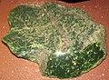 Green nephrite jade (Precambrian; Granite Mountains, Wyoming, USA) 2 (24323267329).jpg