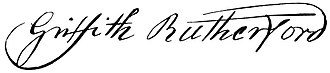 Griffith Rutherford - Image: Griffith Rutherford (signature)
