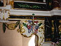 Groß Eichsen Kirche Altar Wappen Stralendorff 2012-09-30 192.JPG