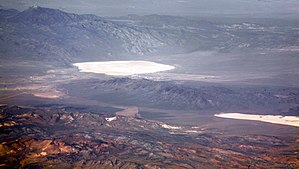 Groom Lake and Papoose Lake, both in the Nevad...