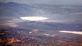 Papoose Lake - Groom Lake with Papoose Lake noticeable at the lower right