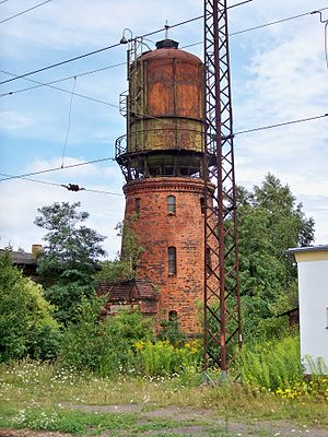 Großkorbetha - Water tower near the train station
