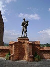 Pomnik ułana z dziewczyną w Grudziądzu