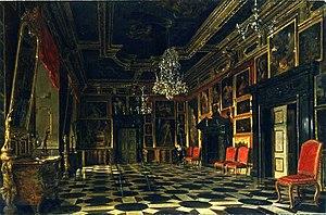 Pidhirtsi Castle - The Crimson Room (1871), painting by Aleksander Gryglewski.