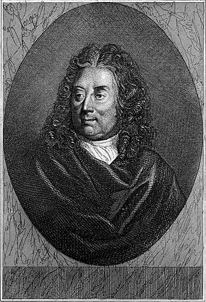 Guillaume Amfrye de Chaulieu - Engraving by Charles Devrits