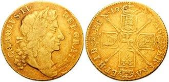 Guinea (coin) - Charles II