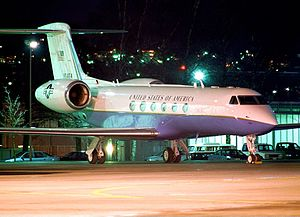 309th Airlift Squadron - C-37A Gulfstream V at Stuttgart Airport
