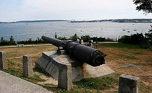 Portland, Maine - Gun recovered from USS ''Maine'' on Munjoy Hill