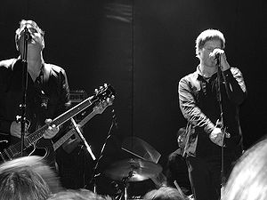 Mark Lanegan - The Gutter Twins at The Bowery Ballroom in 2008. From left: Greg Dulli, Mark Lanegan.
