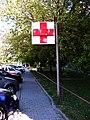 Háje, Hviezdoslavova 12, červený kříž.jpg