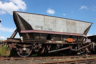 Merry-go-round train - HAA 354966 at Barrow Hill, with EWS-liveried framework