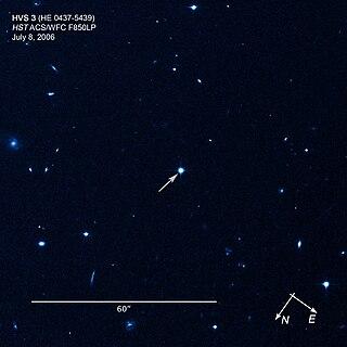 HE 0437-5439 Hypervelocity star in the constellation Dorado