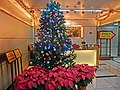 HK 灣仔 Wan Chai 馬來西亞大廈 Malaysia Building lift lobby hall interior Management Office counter Xmas tree Dec-2013.JPG