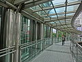 HK CKC 中環 Central 長江中心 Cheung Kong Centre Sept-2013 Garden Road sidewalk footbridge interior visitor.JPG