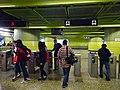 HK MTR Wan Chai Station interior pay gates April 2016 DSC 003.JPG