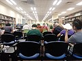 HK STT 石塘咀公共圖書館 Shek Tong Tsui Public Library interior visitor seats back August 2018 LGM 02.jpg