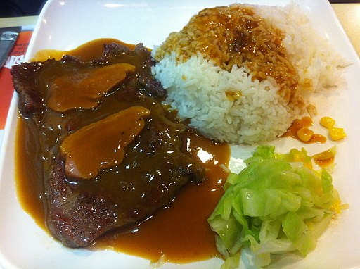 HK Wan Chai Hennessy Road �--�森林 茶餐廳 New Forest restaurant food beef rice Feb-2012