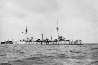 Pelorus-class light cruiser built for the Royal Navy at the end of the 19th century