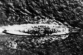 HMS Vanguard (23) - Overhead view of Vanguard