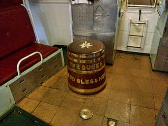 Rum ration - Image: HMS Cavalier grog tub