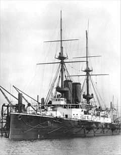 January 1: HMS Formidable, sunk by a German U-boat. HMS Formidable 1898.jpg