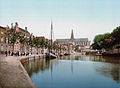 Haarlem - Turfmarkt en Grote Kerk 1900.jpg