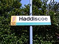 Haddiscoe Railway Station Sign - geograph.org.uk - 1439212.jpg