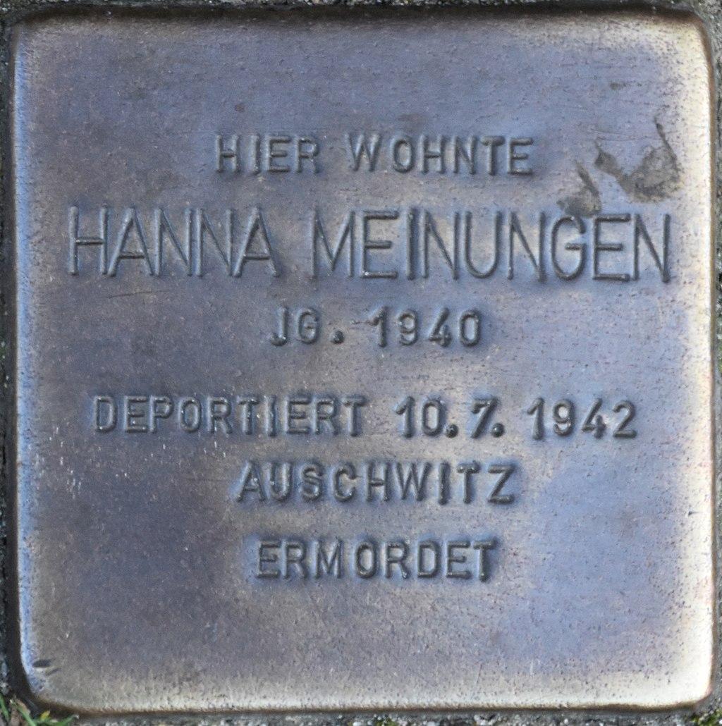 Hagenow Stolperstein Lange Straße 108 Meinungen, Hanna