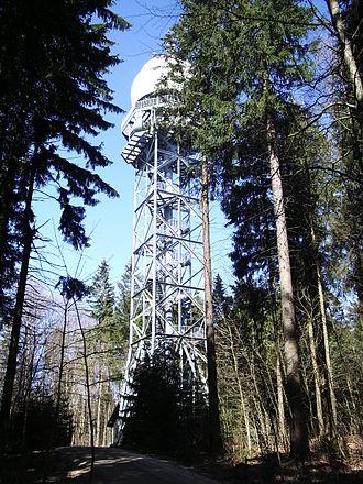 Hage (Randen) - The Hagenturm on the summit