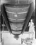 Halifax fuel tanks in bomb bay India WWII IWM C 5456.jpg