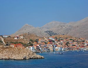 Halki (Greece) - Port of Emporio, Halki Island, Dodecanese