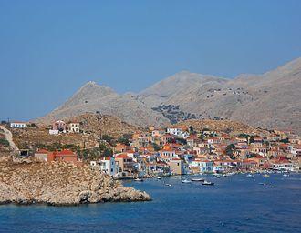 Halki (Greece) - Port of Emporio, Halki Island, Dodecanese