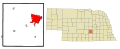 Hall County Nebraska Incorporated and Unincorporated areas Grand Island Highlighted.svg