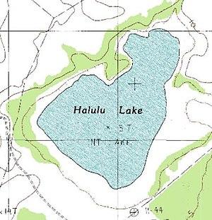 Halulu Lake - Image: Halulu Lake on topo map of southern Niihau Island, Hawaii