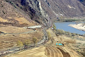 View of the Hambuk Line near Kanp'yŏng