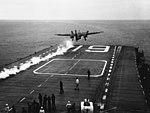 Hancock First C-11 Catapult Launch 1954.jpg