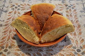 "Syrian cuisine - Lakhma, also known as ""Cappadocian"" bread among Greek-speaking communities."