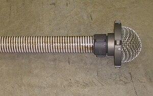 Hard suction hose - Image: Hard suction end med strainer