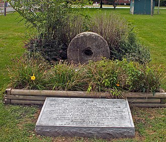 Haun's Mill massacre - The Hawn's Mill stone is now in Breckenridge, Missouri
