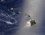 A Hawaii területét alkotó vulkanikus hegylánc