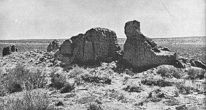 Hawikuh Ruins - Ruins of Mission La Purísima Concepción de Hawikuh, photo circa 1886