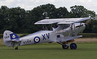RAF Andover - The Hawker Hind was derived from the Hawker Hart. This Hind is a flying example in the Shuttleworth Collection
