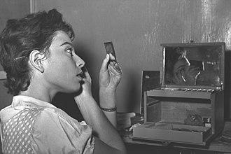 Haya Harareet - Preparing for a play in Israel, 1954